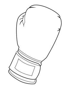 Boxing glove pattern. Use the printable outline for crafts ...