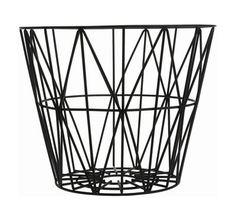 Corbeille Wire Small / Ø 40 x H 35 cm Noir - Ferm Living - Décoration et mobilier design avec Made in Design