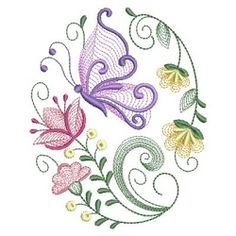 Rippled Butterflies 5, 6 - 3 Sizes! | What's New | Machine Embroidery Designs | SWAKembroidery.com Ace Points Embroidery