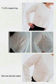 衛衣拼布短身上衣