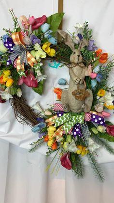 Rustic Wreaths, Door Wreaths, Grapevine Wreath, Burlap Wreath, Spring Wreaths, Easter Wreaths, Holiday Wreaths, Entryway Decor, Foyer