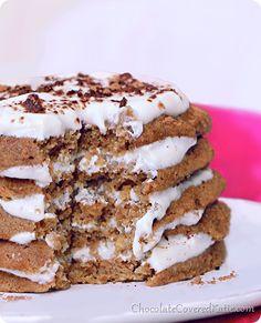 Secretly good for you Tiramisu Pancakes {high protein and low calorie} http://chocolatecoveredkatie.com/2014/05/05/tiramisu-pancakes/