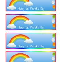 Printable bookmarks are great giveaways for kids parties or as rewards. This St. Patrick's Day, give them this rainbow themed free printable bookmark to make them remember this celebration. Cut each and to make them durable you can laminate.