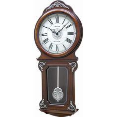 Wooden Wall Clock RHYTHM with FREE GIFT