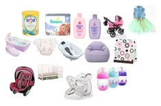 """""""My Baby Stuff"""" by queenonfleek09 on Polyvore featuring Johnson's Baby, Pillowfort, Carter's, Storkcraft, CHICCO, The First Years and Disney"""