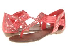 MADDEN GIRL Tone Crystal Sandals Coral $29 SHIPS FREE ♥ BUY HERE: http://www.beachhippieinc.net/madden-girl-tone-crystal-sandals-coral/ ♥ INCLUDES NORTON SHOPPING PROTECTION & LOWEST PRICE GUARANTEE
