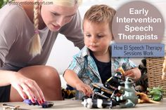 Many parents are surprised when their early intervention speech therapist comes to their home and starts playing with their child.