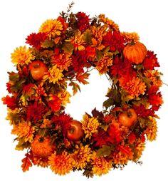 Autumn Sunset & Apple Wreath
