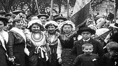 French troops march into Alsace-Lorraine and local citizens greet them, . Alsace, Lorraine, Troops, Citizen, Stock Footage, Roman, French, March, Vintage