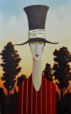 Annette in Provence by Danny McBride Danny Mcbride, Joe Cocker, Amedeo Modigliani, Abstract Painters, Naive Art, Mermaid Art, Woman Painting, Hats For Women, Provence