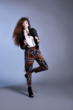 BALLER trousers.  Blouse.  Black jacket.    Source: http://hairspiration.blogspot.co.uk/2012/11/the-lookbook-2020avecom.html