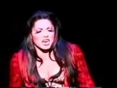 "Sara Ramirez performing ""Diva's Lament"" in her Tony-award-winning run as The Lady of the Lake in Broadway's Spamalot."