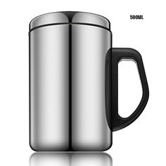 Stainless Steel Insulated Tea Cup Thermal Coffee Mug >>> For more information, visit image link.