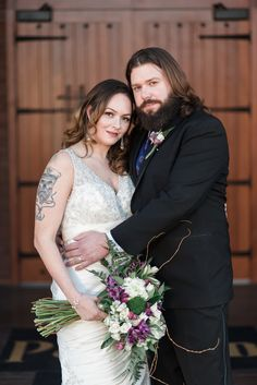 Rockford Wedding Photography by Brian Adams; tattooed bride; gorgeous; bearded groom; The Pavilion at Orchard Ridge Farms