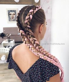 25 different braids You have to learn how to make this beautiful braided hair style! Summer is fast approaching! Braided hairstyles that can make us f. Long Face Hairstyles, Box Braids Hairstyles, Ethnic Hairstyles, Evening Hairstyles, Hairstyle Ideas, Wedding Hairstyles, Curly Hair Braids, Braids For Long Hair, Long Hairstyles