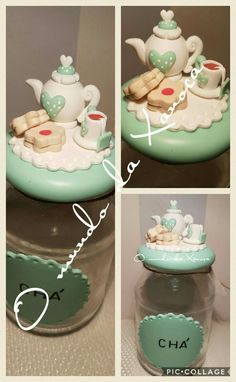 Resultado de imagen para botes decorados de navidad porcelana fria, pinterest