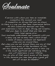 Tuesday's Thought  On Finding a Soulmate