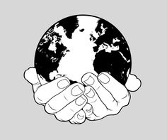 World and Hands Stock by turp on DeviantArt Earth Drawings, Blue Drawings, Mini Drawings, Earth Tattoo, World Tattoo, Hands Holding The World, Hand Holding Tattoo, Hard Tattoos, Tatoos