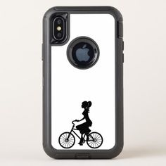 #art design pattern cycle OtterBox defender iPhone x case - #cycling #gifts