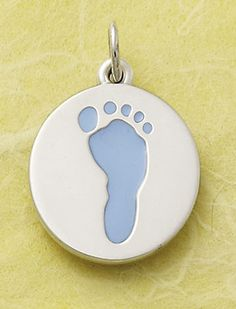 Enamel Baby Boy Footprint Charm #JamesAvery