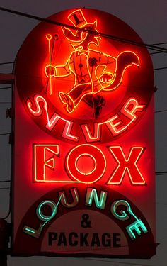 Albuquerque, NM Silver Fox Lounge & Package by army.arch, via Flickr
