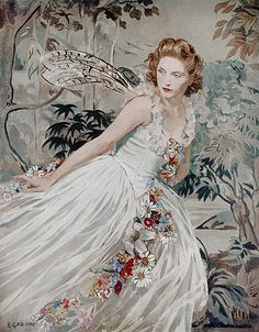 """margotfonteyns: """"""""Dorothy Hyson as Titania in A Midsummer Night's Dream, painting by Ethel Gabain exhibited at the Royal Academy in """" """" High Fantasy, Fantasy Art, Classic Rock Artists, Woman Painting, Dream Painting, 10 Picture, Fairy Land, French Artists, Whimsical Art"""