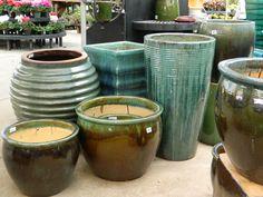 beautiful pots for those fabulous flowers