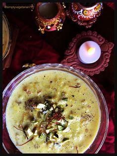 Magaj Makhane ki Kheer / Melon Seeds and Fox Nuts Pudding, navratri reipes, indian festival fasting recipes, melon seeds called magaj, makhana in english