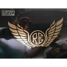 RE and wings design sticker on royal enfield tank top #royalenfield #motorcycle #stickers #decals Classic 350 Royal Enfield, Enfield Classic, Royal Enfield Stickers, Himalayan Royal Enfield, Bullet Stickers, Royal Enfield Wallpapers, Bullet Bike Royal Enfield, Royal Enfield Modified, Enfield Bike