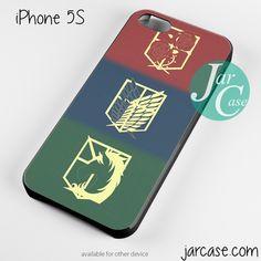 Attack On Titans Phone case for iPhone 4/4s/5/5c/5s/6/6 plus