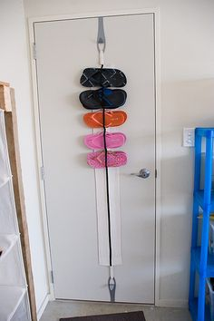 a52d88f82 Flip flop organizer DIY - It s not as pretty as the other one I have pinned