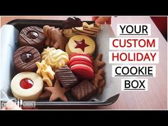 Make ANY Cookie with THIS Recipe (Linzer/Sugar/Gingerbread/Chocolate/Butter/Holiday Cookies Cookie Recipes video recipe Chocolate Sugar Cookies, Chocolate Butter, Cookie Box, Cookie Dough, Linzer Cookies, Custom Cookies, Cookies Et Biscuits, Holiday Cookies, Christmas Baking
