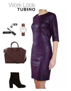 Work Look Burgundy by tubino-skirts-dresses on Polyvore featuring mode, Alexander Wang, Givenchy, Daniel Wellington and Bobbi Brown Cosmetics
