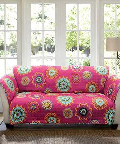 This would go w the rug, ha! $39.99  Look at this #zulilyfind! Fuchsia Ashbury Sofa Protector #zulilyfinds