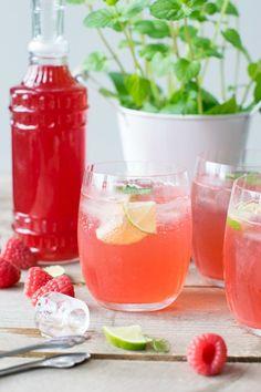 Homemade Himbeer-Limonade
