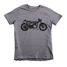 Motorcycle Kids T Shirt, Norton Motorcycle Kids T-shirt, Vintage Bike Toddler Top, Motorcycle Youth Tshirt, Custom Kids T Shirt, Trendy Kids by MONOFACESoCHILDREN on Etsy
