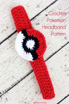 Pokeball crochet headband pattern. Perfect for the Pokemon Go crazed girl.