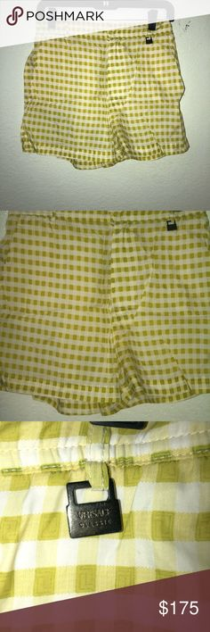 Men's swim trunks Men's vintage designer swim shorts in excellent condition. Versace Swim