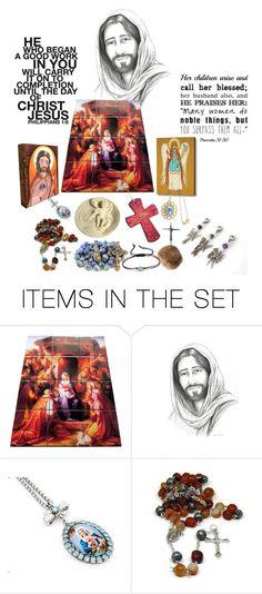 """Religious Art on Etsy by TerryTiles2014 - Volume 107"" by terrytiles2014 on Polyvore featuring arte, etsy, catholic e religious"