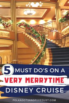 5 Must Do's on a Very Merrytime Disney Christmas Cruise! Everything we love about Christmas at Sea with Disney Cruise Line Cruise Tips, Cruise Travel, Cruise Vacation, Disney Vacations, Honeymoon Cruises, Family Vacations, Vacation Ideas, Disney Resorts, Italy Vacation