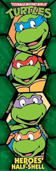 Teenage Mutant Ninja Turtles - Faces Slim Poster
