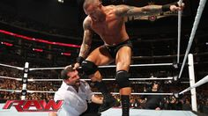 Randy Orton vs. Seth Rollins & J&J Security – WWE App Vote Match: Raw, March 23, 2015