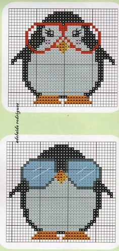 Penguins perler bead pattern