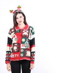 Ugly Christmas Sweater - Vintage Ugly Christmas Sweaters - UC231