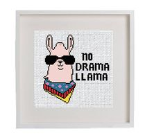 Llama Cross Stitch Pattern Modern Cross Stitch Simple