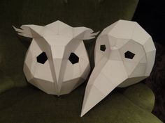 You are buying the templates with simple instructions to make your own OWL and BIRD / PLAGUE DOCTOR paper masks from cardboard. They are supplied
