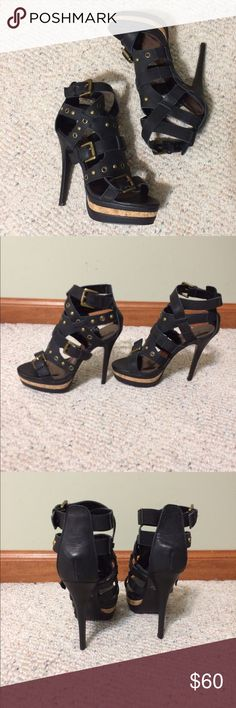 Frederick's of Hollywood leather heels NWOT Seriously sexy black authentic leather heels, size 7. Frederick's of Hollywood Shoes Heels