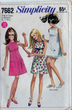 Simplicity sewing pattern.