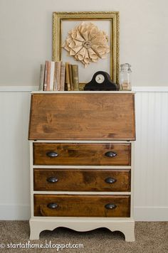 vintage fold down desk start at home decor