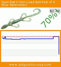 Zoom Bait 6-Inch Lizard Bait-Pack of 9 (Blue Watermelon) (Sports). Drop 70%! Current price $2.49, the previous price was $8.22. http://www.adquisitio-usa.com/zoom-bait-co/zoom-bait-6-inch-lizard-13